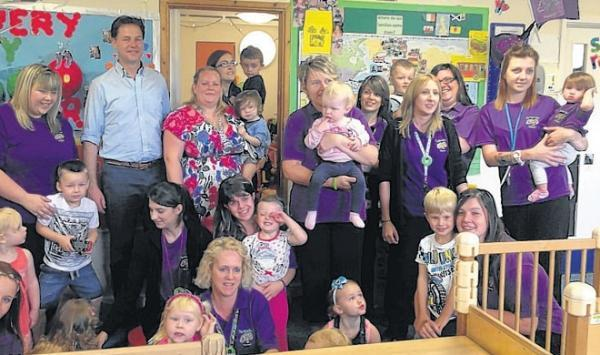 Clegg keeps his eye on childcare