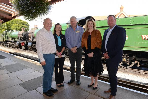 WEST Somerset MP Ian Liddell-Grainger, Louise Watkins of the Beach Hotel, West Somerset Railway general manager Paul Conibeare, Coastal Communities Minister Penny Mordaunt and Somerset YMCA Coast chief Martin Hodgson. PHOTO: Ash Magill.