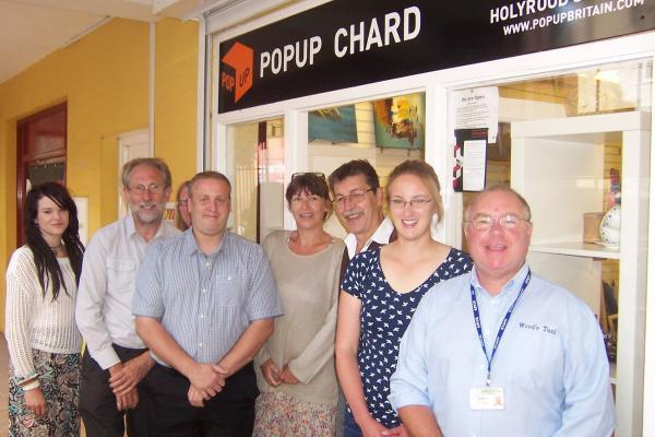 FROM left, Lily Mason, Cllr Garry Shortland, Lesley Mumford, Jason Baker, Kate Mason, Neil Ling, Katy Rowswell and Kevin Wood.