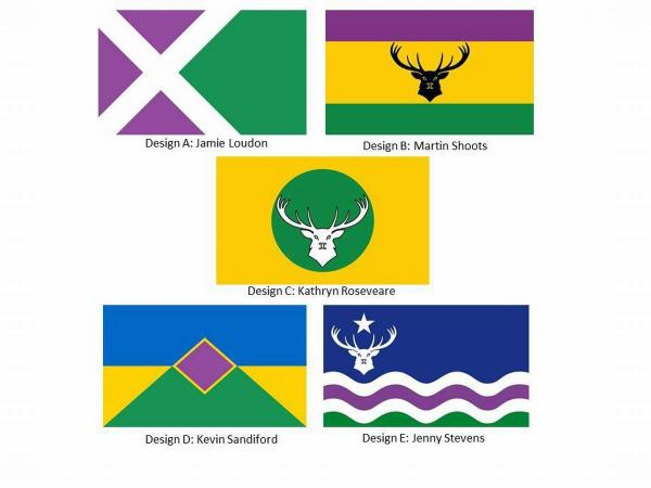 THE five finalists of the Exmoor Flag Competition.