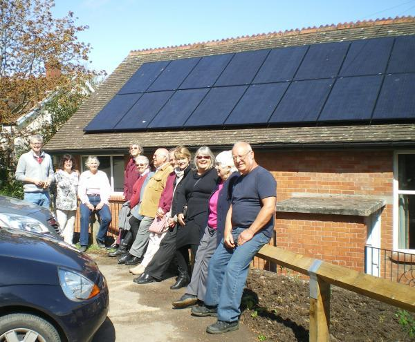 THE solar panels on top of Kilve Village Hall.