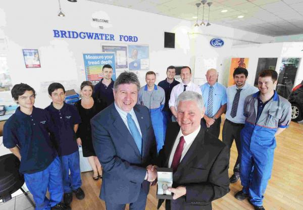 Double retirement at Bridgwater Ford dealer