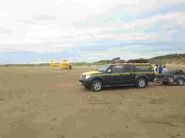 Teenager thrown 20 feet from motorbike after getting stuck in soft sand on Burnham beach