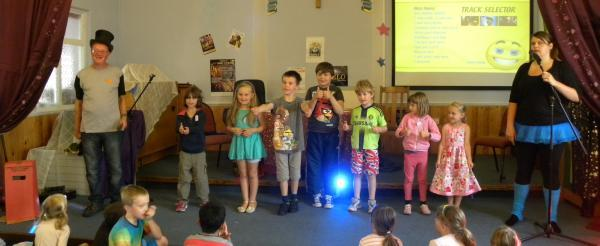 CHILDREN in West Somerset enjoyed a showtime themed Christian club thanks to churches in Minehead and Alcombe.