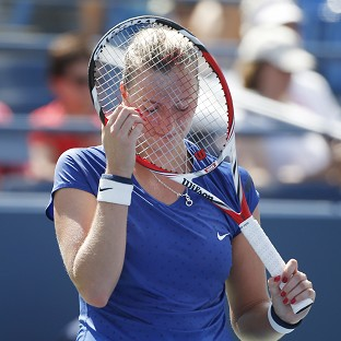Wimbledon champion Petra Kvitova lost in the third round of the US Open (AP)