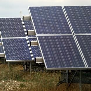 Liz Truss said solar panels were taking up land that could be used for food production