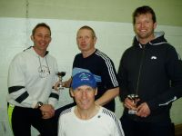 Delighted rowers (back, left to right) Andy Blake, Danny McKernan, Nick Healey, and John Poland (front)
