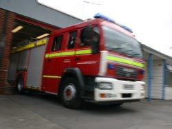 RESCUE: Fire crews rescued a cat and a woman who were trapped in St James Way in Tiverton