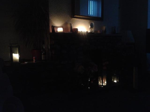 POWERLESS Tiverton Resident Viv Curtis Tweeted This Picture Of Her Dark Living Room