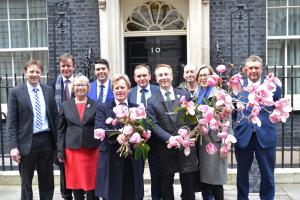 Spring comes early to 10 Downing Street with magnolia delivery