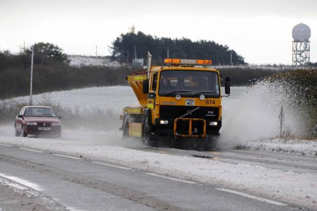 OUT IN FORCE: Gritters will be out on roads across Devon for the first time this winter