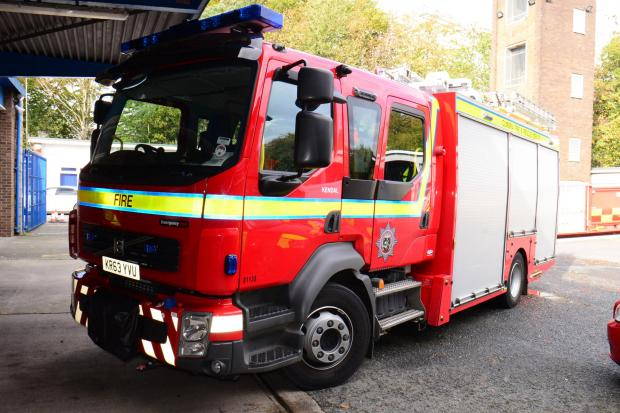 Bridgwater fire crews tackle vehicle fire in the middle of the night