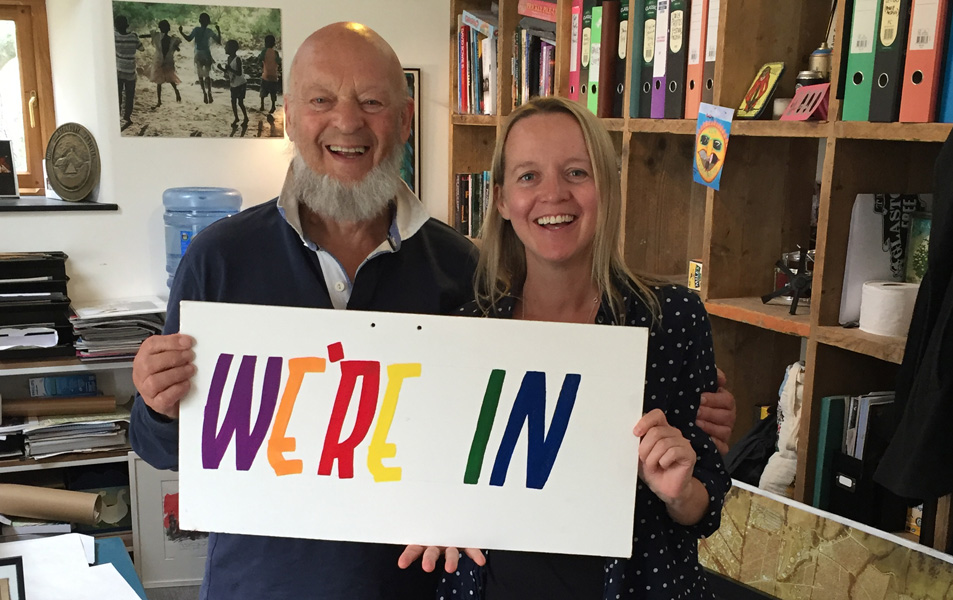 REMAIN: Glastonbury Festival organisers Michael and Emily Eavis are backing the 'remain' campaign