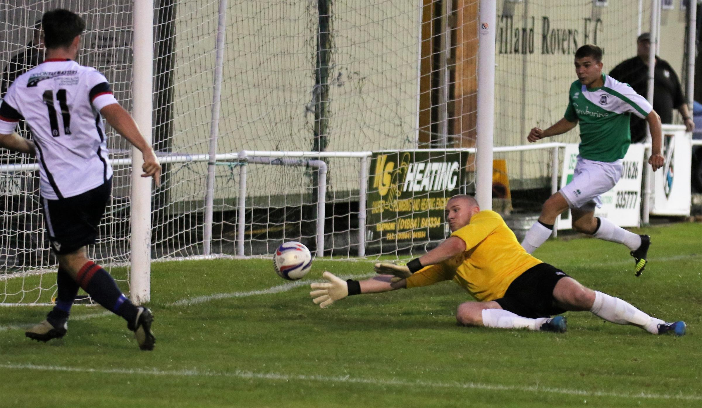 GOAL: WIlland hit Sherborne for six at Silver Street on Wednesday night. Picture: Robert Mitchell