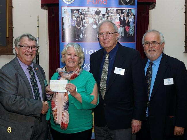 GENEROUS DONATION: Accompanying image from left to right: Ian Kingsbury (Provincial Grand Master), Amanda Middlemost (SENDCo at QE), David Morey (SEND Governor at QE), Philip Bourne (WAKE Fund Co-ordinator).