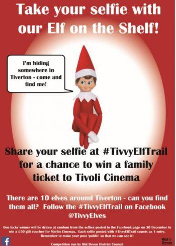Take your selfie with the elfie around Tiverton