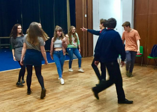 GEARING UP: Students at Wadham School in Crewkerne are preparing to perform Guys and Dolls
