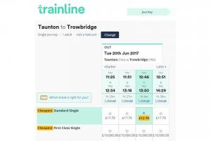 The Trainline's website states a £10,000 fee for a first class single ticket.