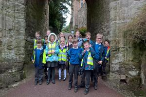 VISIT: Nether Stowey Primary School students loved visiting Dunster Castle