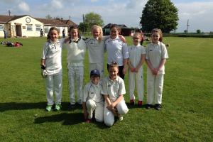 CHARD girls cricket team. Pictured (from left): back - Freya Hibbard, Daisy Russell, Lola Saxby, Jessica Baker, Hettie Behan and Amy Driscoll; front - Phoebe Grinter and Crocus Douglass.