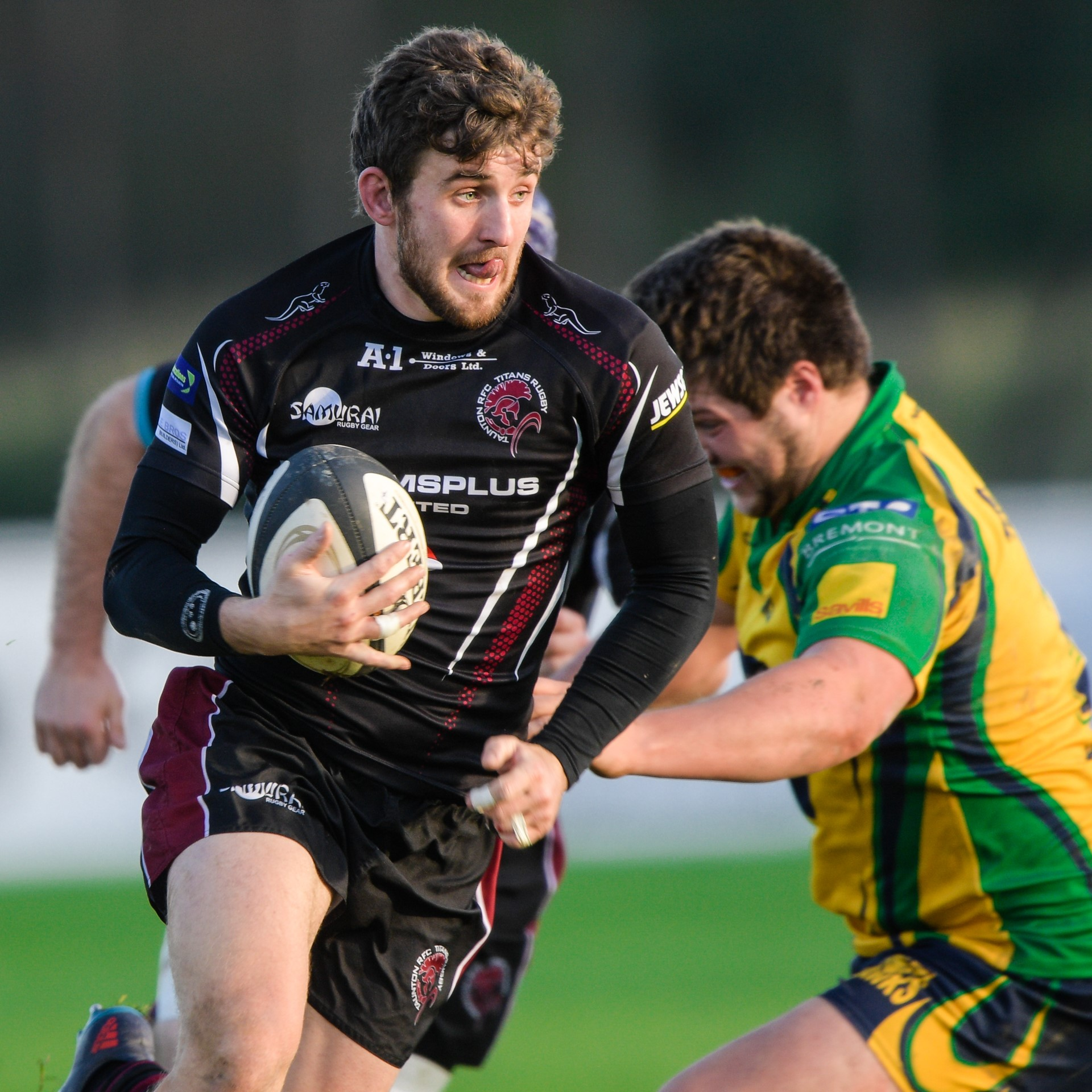BRACE: Ollie Rice scored two tries for Taunton against Birmingham & Solihull. Pic: Clayton Jane