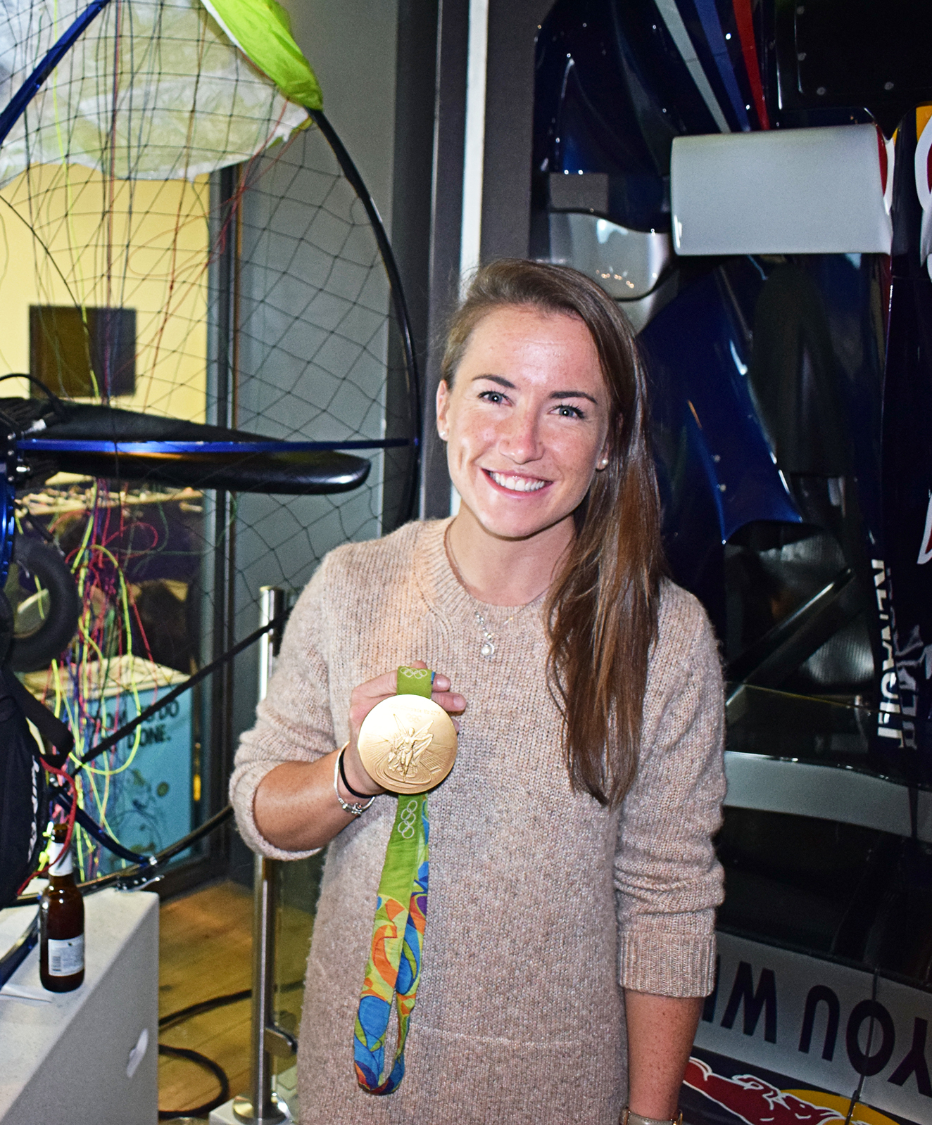 GOLD: Olympian and top goalkeeper Maddie Hinch. Pic: courtesy of King's College