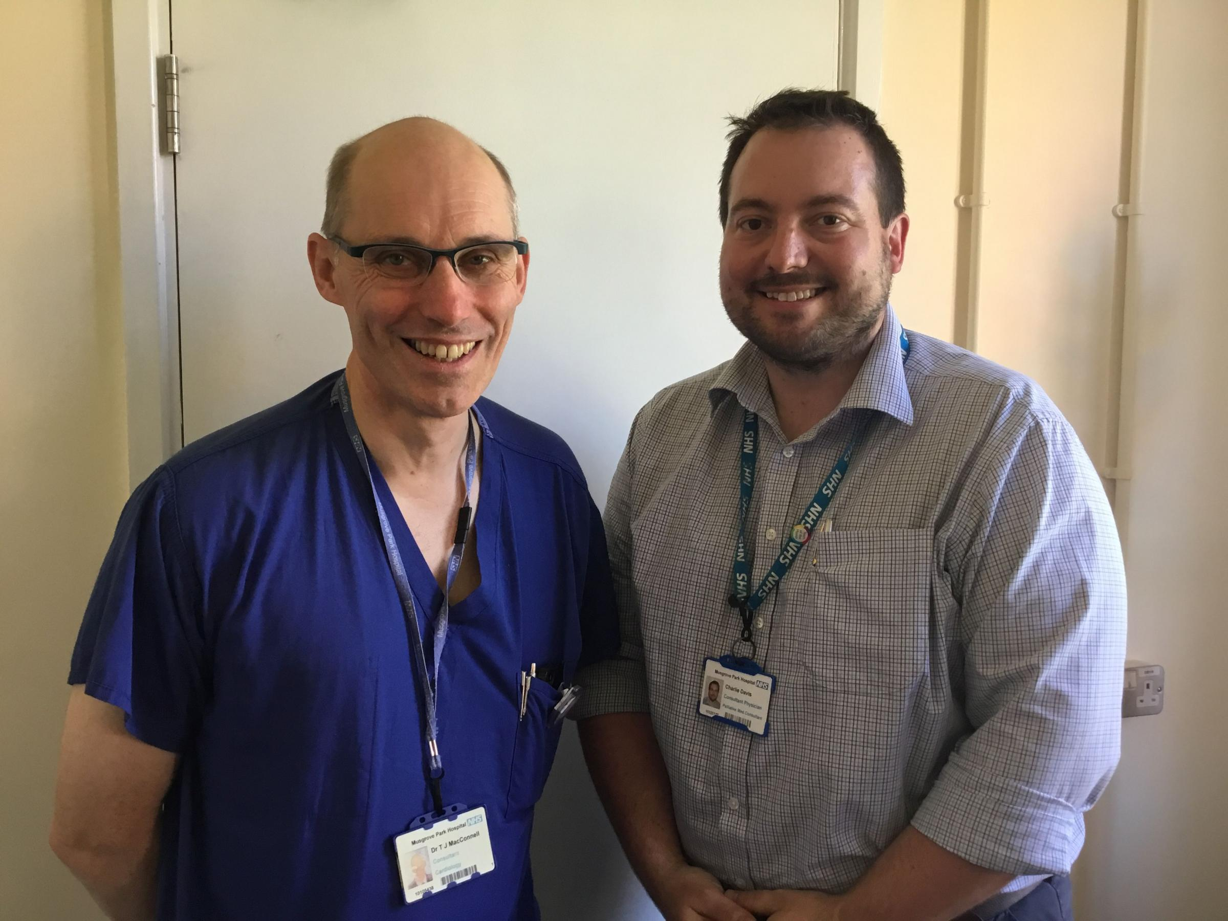DISCUSSING DEATH: Dr Tom MacConnell and Dr Charlie Davis