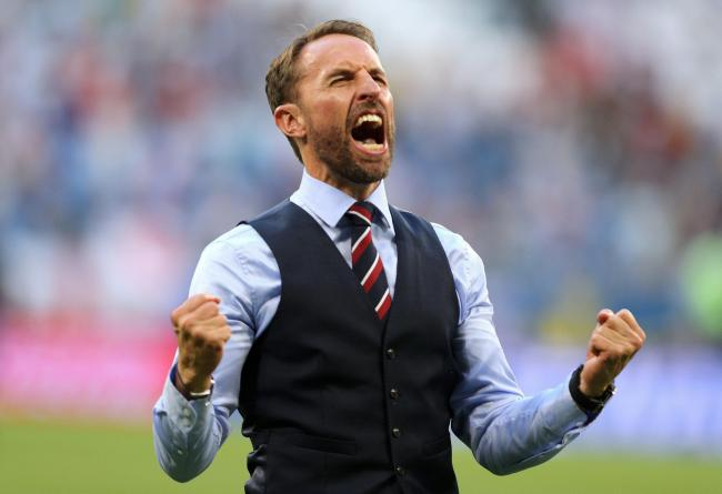 WORLD CUP FEVER: Gareth Southgate is two games away from winning the World Cup with England
