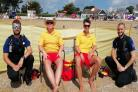 Falmouth Police have teamed up with lifeguards at Gyllyngvase to reduce anti-social behaviour this summer. Photo: Falmouth Police/Twitter