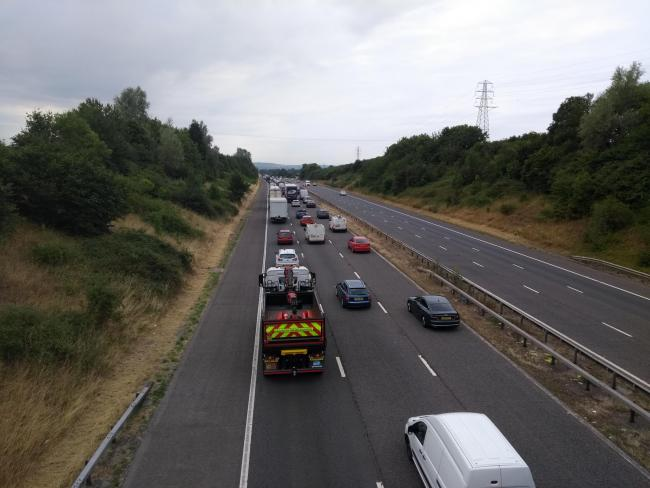 Drivers facing delays on M5 southbound between Bridgwater and
