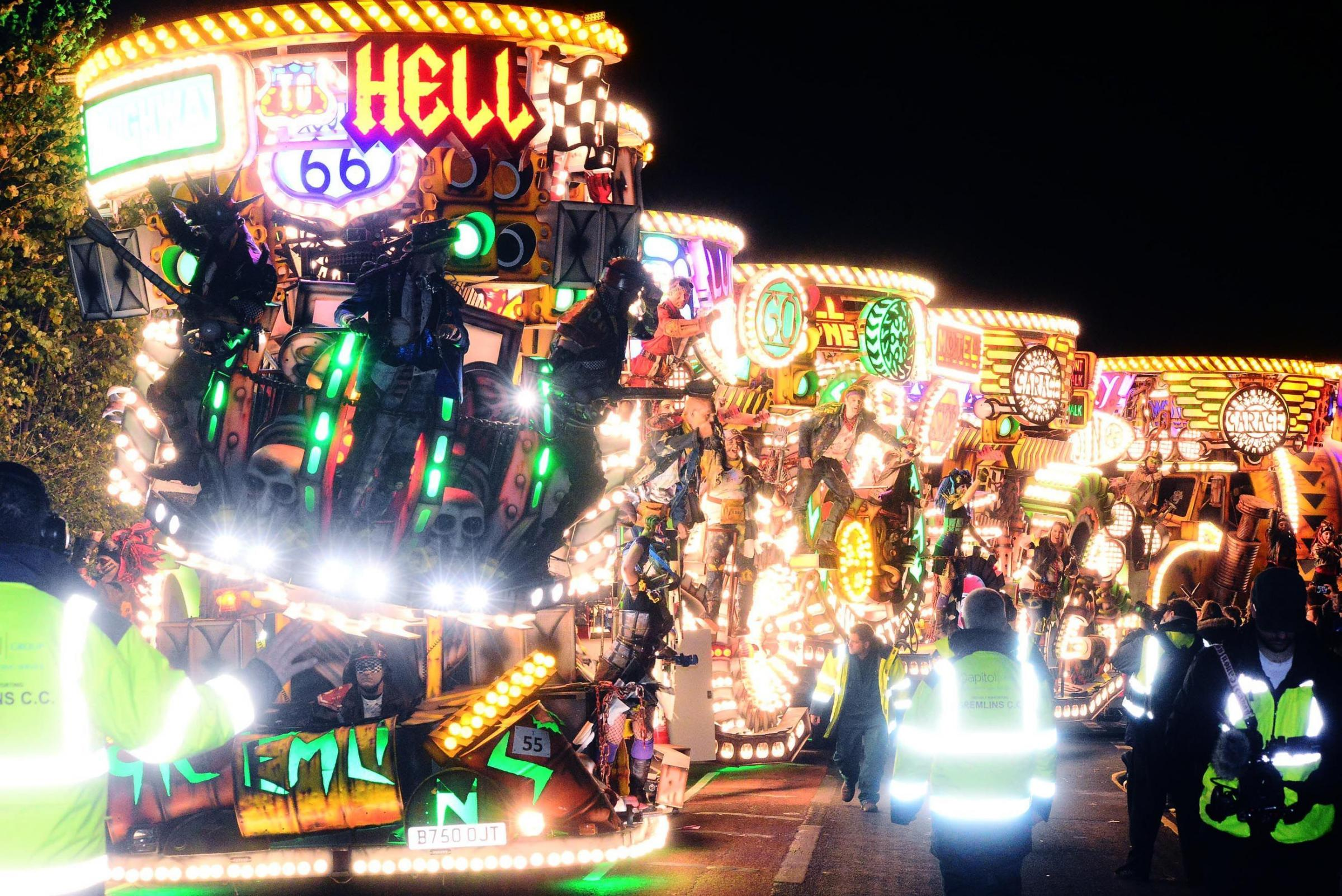 PROCESSION: Gremlins CC at this year's Bridgwater Carnival