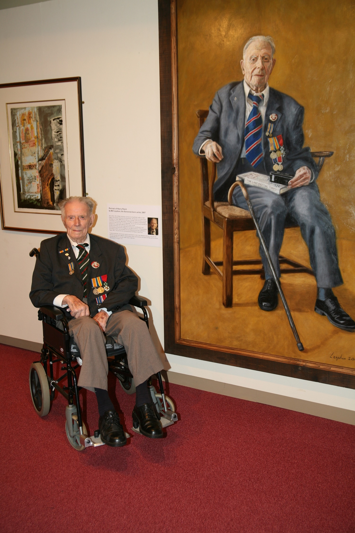 LAST TOMMY: Harry Patch, who survived the trenches and lived to the age of 111