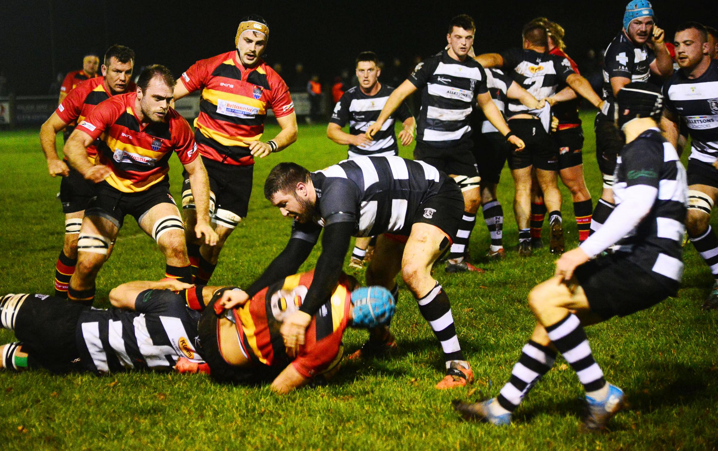 Rugby - North Petherton v Bridgwater & Albion. Pic: Steve Richardson.