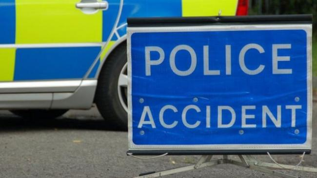 Road closed after three-vehicle collision