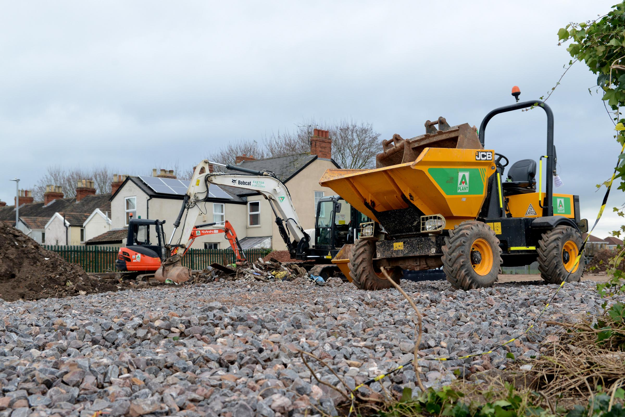 LEVELLING OUT: Obridge Yard, in Taunton, which is to become a temporary car park