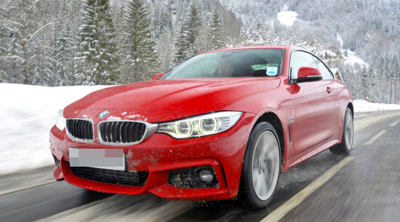 SENTENCE: A BMW 435 like the one Edmunds was driving