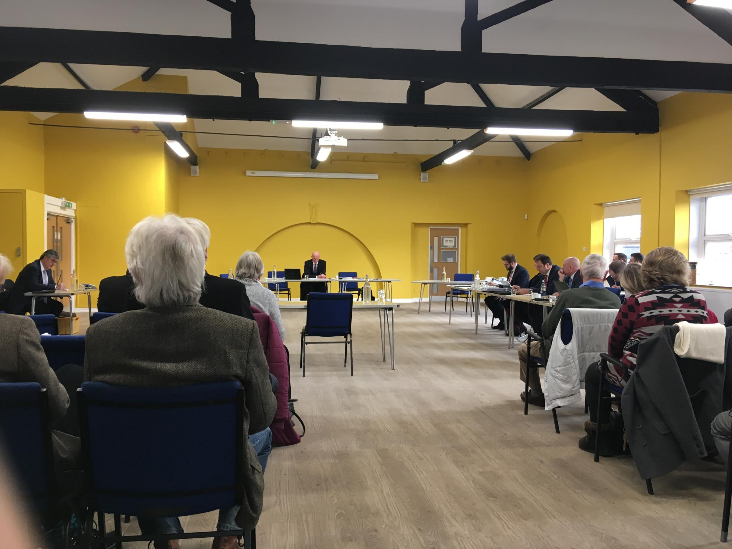 Opening Day Of The Langaller Lane Planning Inquiry In Taunton. CREDIT: Daniel Mumby.