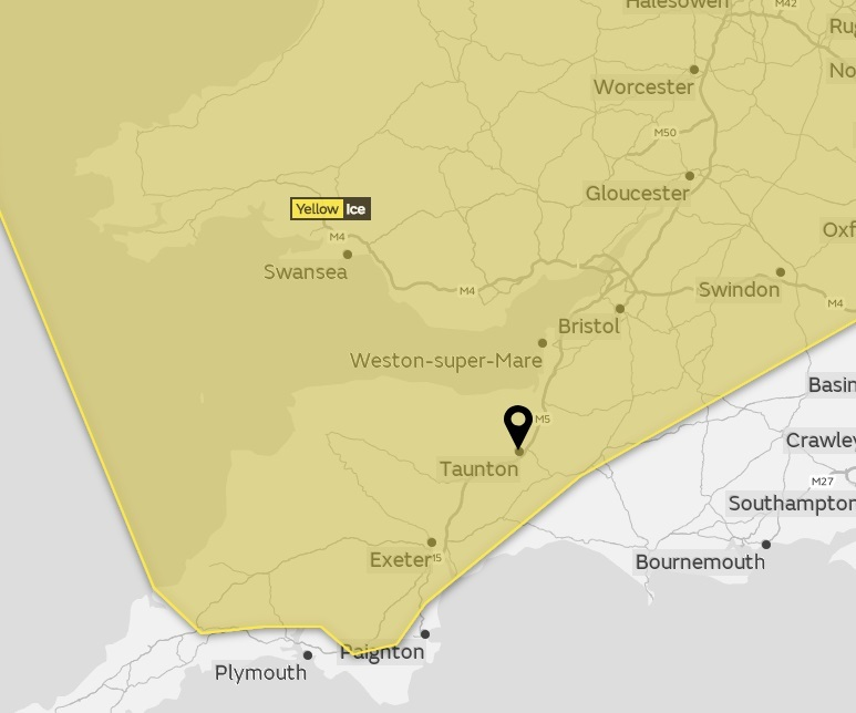 WARNING: Icy weather expected across Somerset