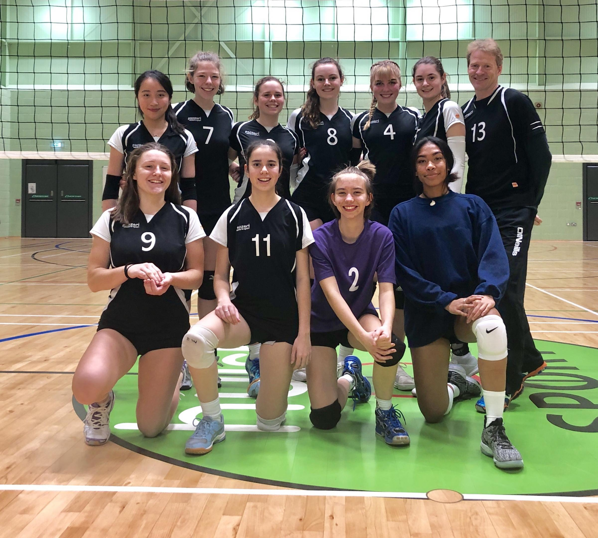 SUCCESS: Pictured from left, back row - Natalie Chan, Bethan Bailey, Kaja Jankowska, Georgia McGovern, Catherine Tolley, Holly Lovell-Fox, Jurek Jankowski (coach); front row - Mischa Jankowska, Amy Hart, Maddie Booker, Tejah Mossman.