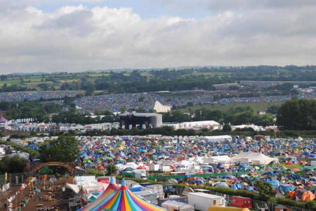 HUGE CHALLENGE: The Glastonbury Festival site. PICTURE: Paul Jones
