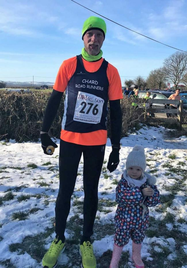 BRRRR: Chard Road Runners' James Musselwhite with his daughter.
