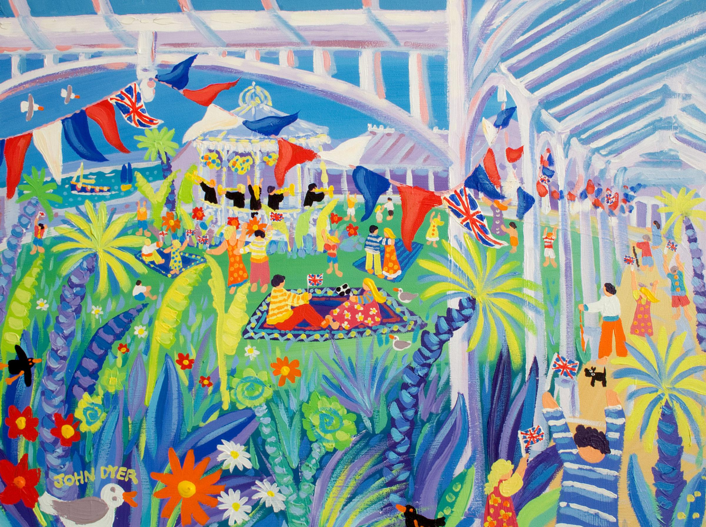The John Dyer painting, Celebration Picnic, which has been stolen