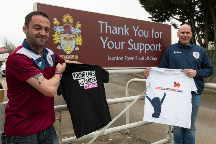 TRIBUTES: Mike Byrne (left) pictured with Rob Wenham ahead of their charity walk in 2017.