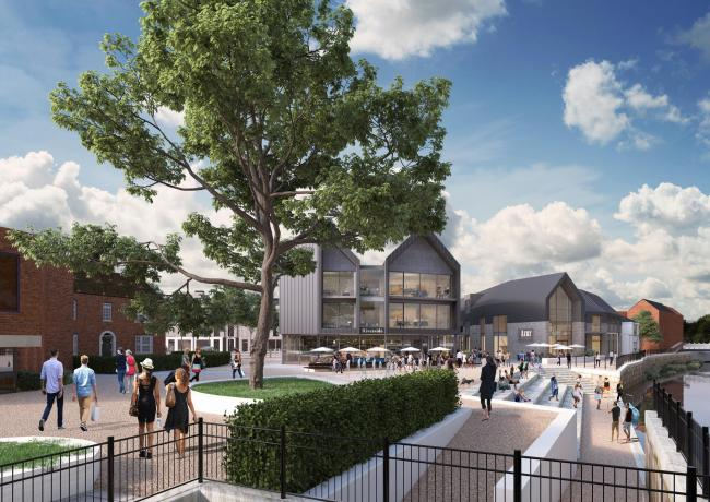 Artist\'S Impression Of Coal Orchard Redevelopment In Taunton. CREDIT: Taunton Deane Borough Council