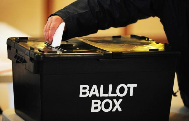 ELECTION: Notice of election for Taunton's Vivary Ward. PIC: Rui Vieira/PA Wire.