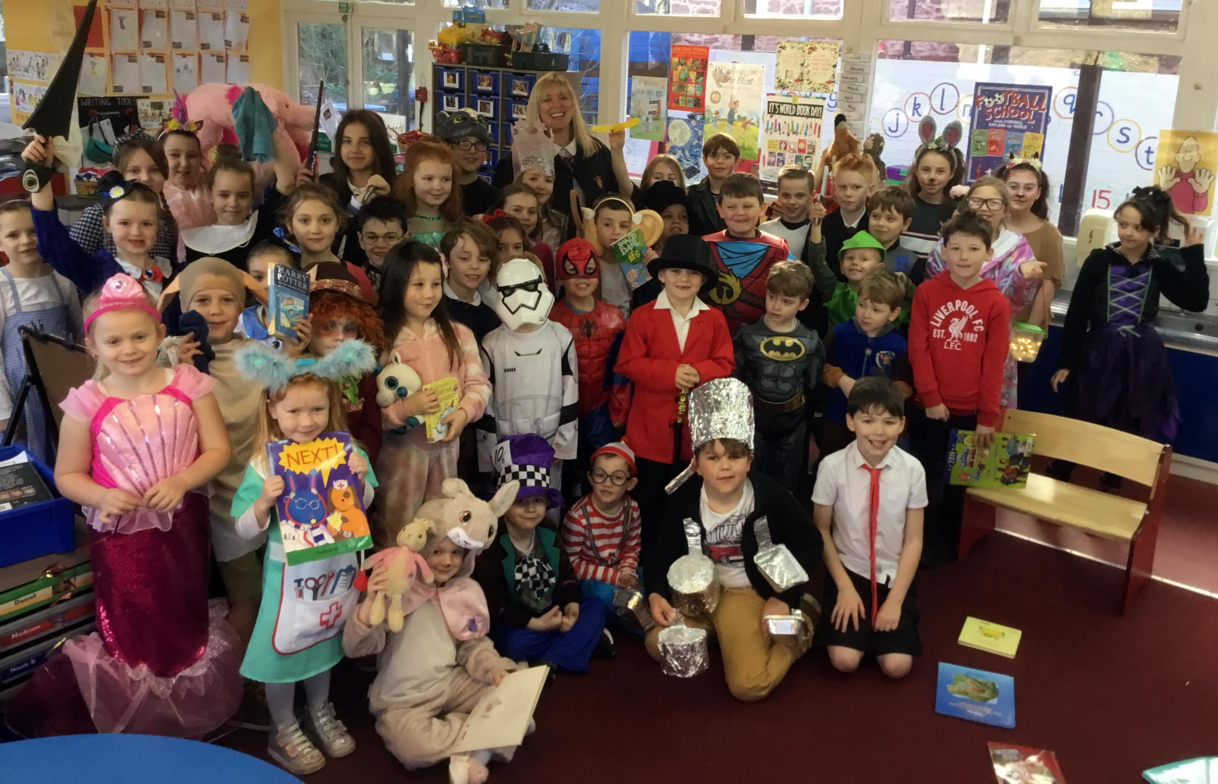 IN COSTUME: Character Day at Langford Budville CE Primary School