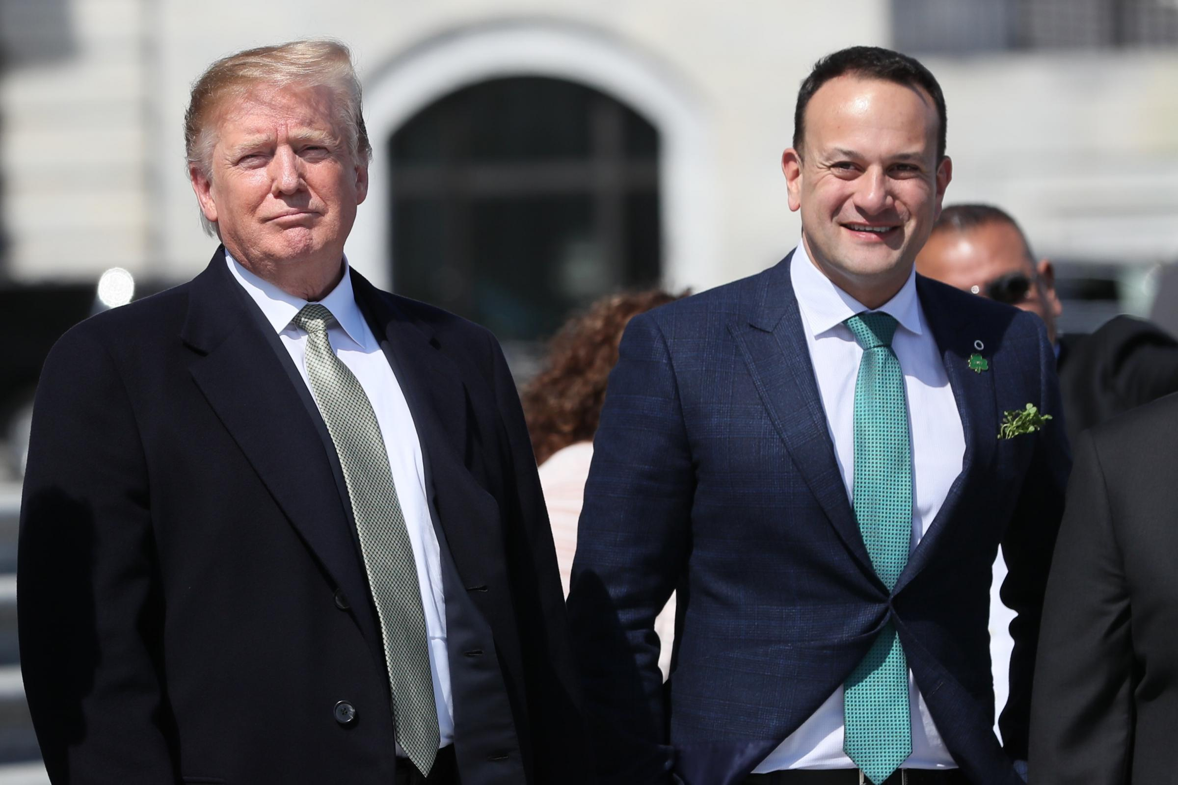Leo Varadkar and Donald Trump