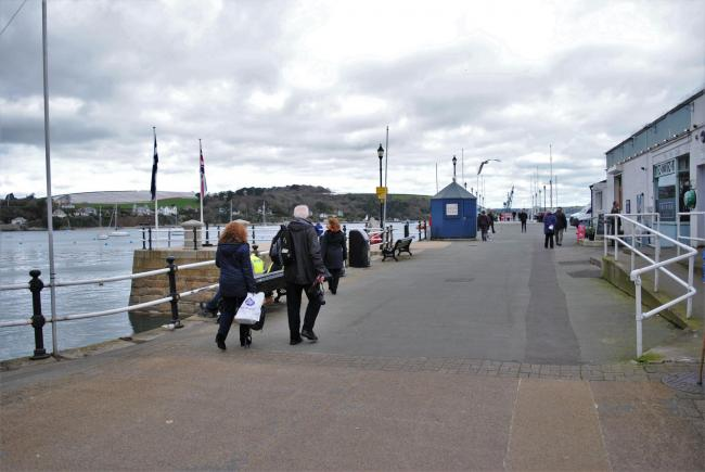 The body was found in the water off the Prince of Wales Pier