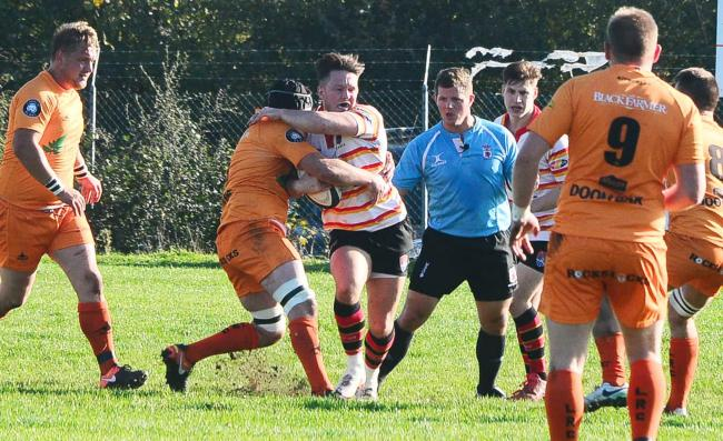 DANGEROUS: Albion's Will Monro made several good breaks against Okehampton