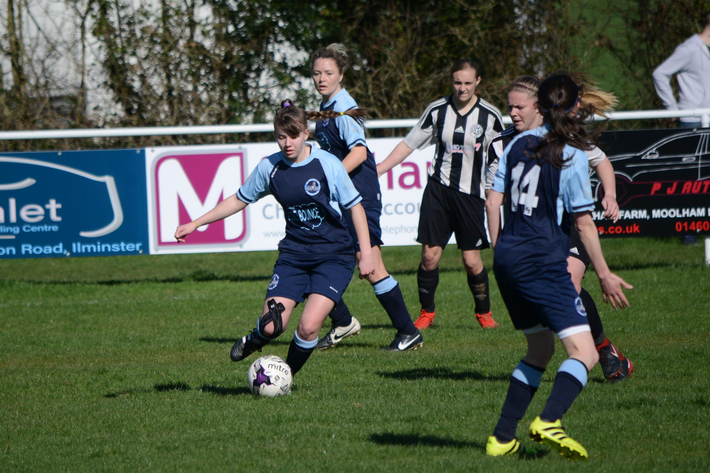 HOME ADVANTAGE: Ilminster Town Ladies are one of the teams at home this weekend. Pic: Aisling Magill